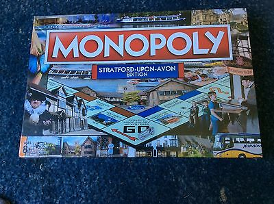 MONOPOLY Board Game Brand New And Sealed Stratford-Upon-Avon Edition  Free P&P