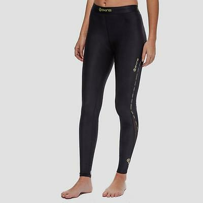 Skins DNAmic Long Women's Compression Tights Black/Yellow/White