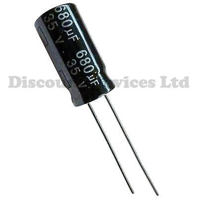 680uF 35V Radial Electrolytic Capacitor 105C