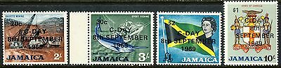 1969 Jamaica MNH the 4 High Values from set, scarce