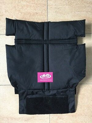 Van Os Excel Wheelchair Padded Seat Backrest / Back Rest Canvas 17in - Parts