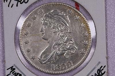1822 25C Capped Bust Quarter. RARE DATE, LOW MINTAGE. X.F+, Cleaned. #2267