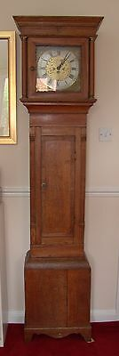 Lovely antique mid 1700's oak 30 hour longcase/grandfather clock - working!
