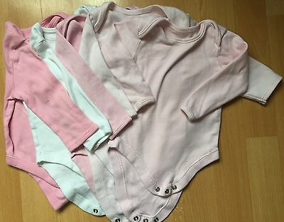 Baby Girls Set Of 5 Long Sleeved Bodysuits/ Vests 6-9 Months (used)