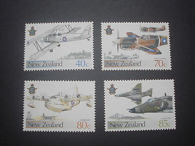 1987 New Zealand Airforce - Set of 4 stamps - Never Hinged Mint