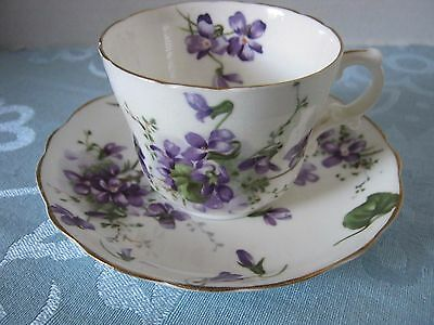 HAMMERSLEY & Co. Victorian Violets Scalloped Bone China Demitasse Cup & Saucer
