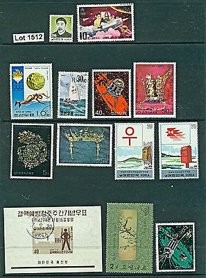 Lot 1512..Korea..selection of 13 mint and used stamps from various years