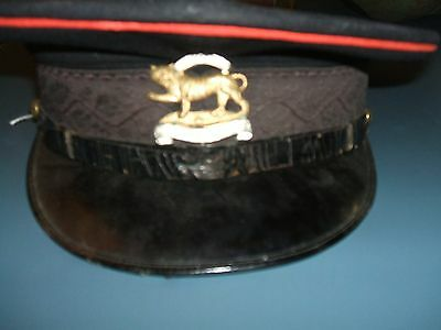 British Leicestershire Inf. Regt Visor Hat