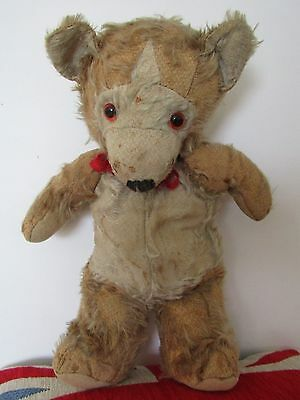 Vintage Old Teddy Bear Well Loved 13""