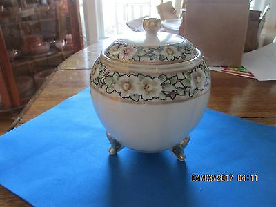 Antique Hand Painted Nippon Footed Ginger Jar