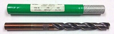 "41/64"" Cobalt Taper Length Drill, 5-1/8"" Lof, 9"" Oal, Ptd 51341 M51Co"