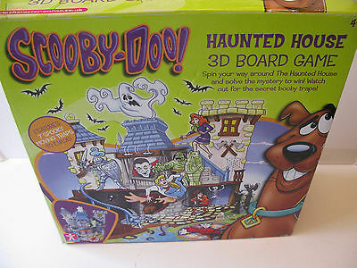 Hasbro Games Scooby Doo Haunted House 3D Board Game 2006