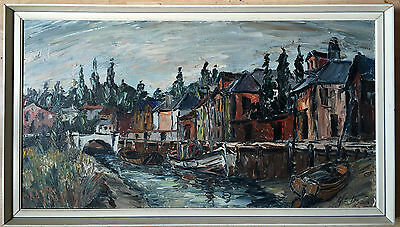George Hann 1900–1979  oil painting on board signed framed
