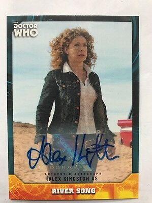Topps Dr Who Signature Series Alex Kingston Autograph Card (River Song)