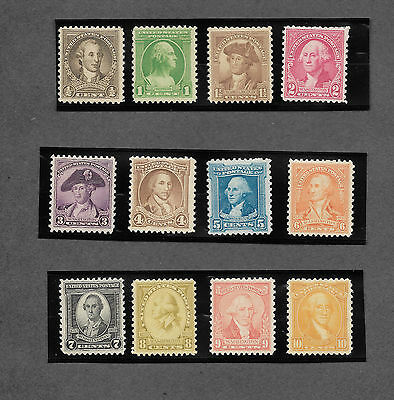"VF US Stamp Scott 704-715 "" US Stamps George Washington 1932 Collection"