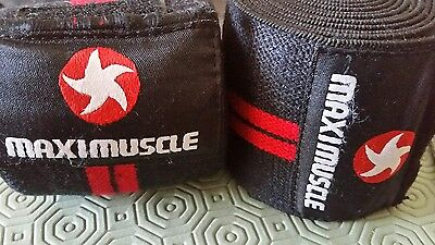 Maximuscle Knee Support Wraps Bandage Weightlifting Powerlifting  Gym Squad