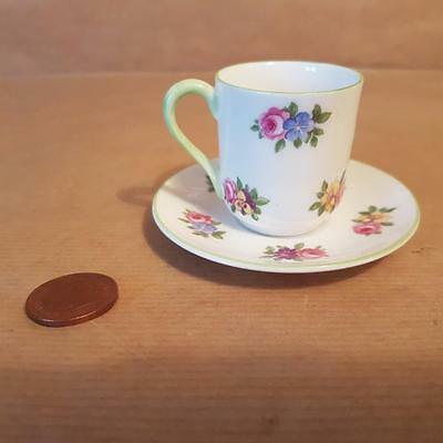 Shelley Miniature Cup & Saucer 13868 Floral Rose design