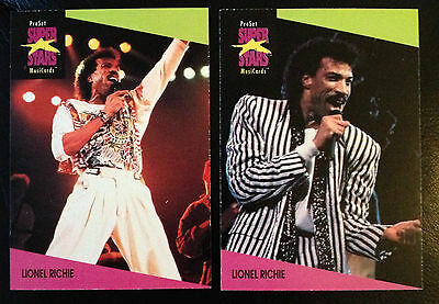 Lionel Ritchie Proset Superstar Musicards 1St Edition- All 2 Cards Set Rare Oop