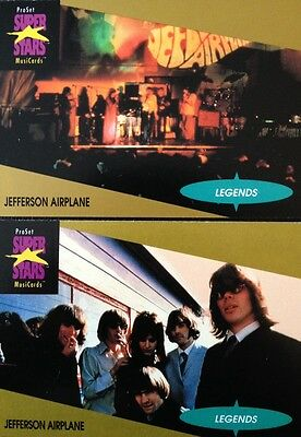Jefferson Airplane Proset Superstar Musicards 1St Edition 2 Cards Rare Oop 1991