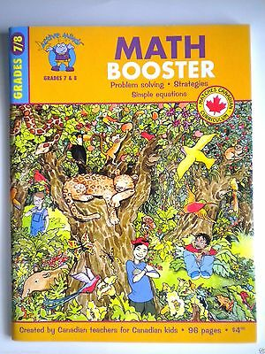 Active Minds Math Booster ~ Grades 7 & 8 ~ Created By Canadian Teachers