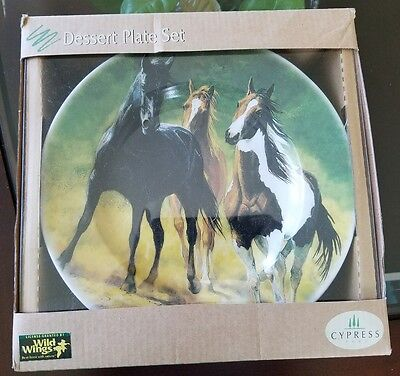 Horses by Chris Cummings Set of 4 Collector's Plates Cypress Home