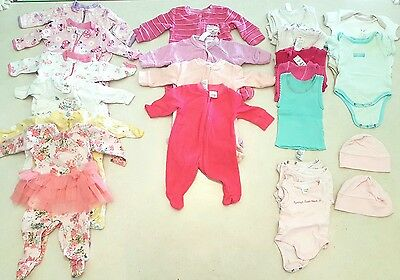 0000 Newborn Baby Girl's Winter Clothes - All In Ones/Coveralls, Bodysuits, Bibs