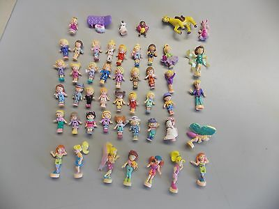 Large Lot Of Bluebird Compact Polly Pocket Figures
