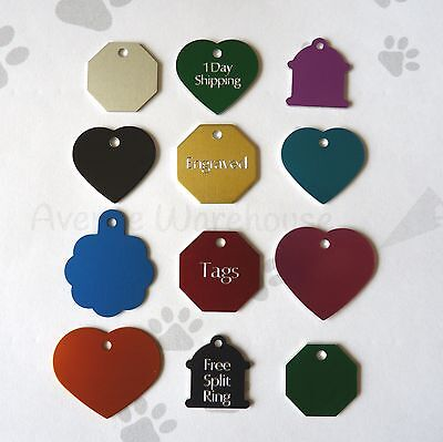 Traditionally Engraved Dog Cat Pet ID Name Tag & Ring Customised Personalised