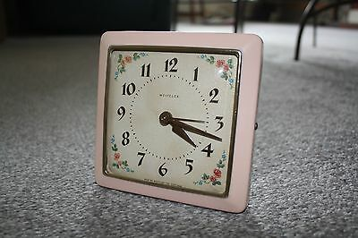 Vintage 1960s Pink Westclox Alarm Clock - Cleaned/Serviced - Exc. Working Order