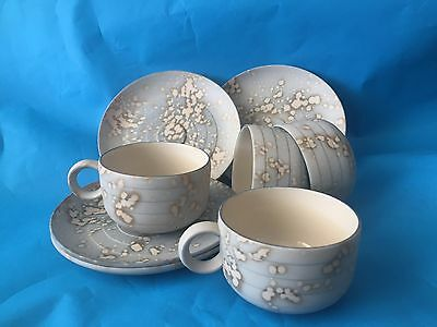 Hornsea Pottery Cirrus / Rare /vintage Set Of 4  Cup And Saucers