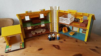 Vintage Fisher Price Play Family House with furniture and figures