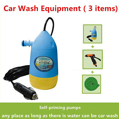 Mini Portable High Pressure Electric Car Washer submersible Pump 12V Car Washer