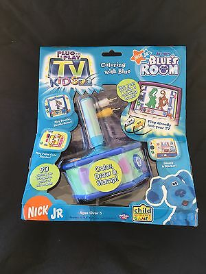 Nick Jr Blues Clues Plug N Play Blues Room Coloring with Blue TV Kids Game