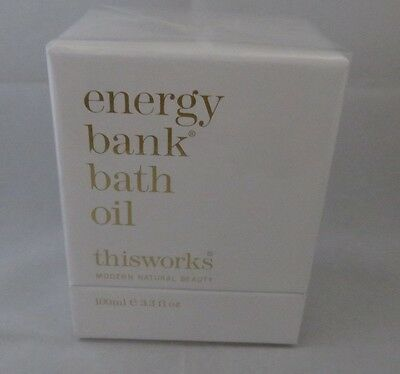 Thisworks Energy Bank Bath Oil 100 Ml Bnib & Cellophane Seal
