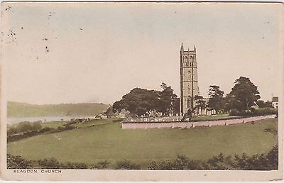 The Church - Blagdon - Bristol - Somerset - Postcard Used 1925