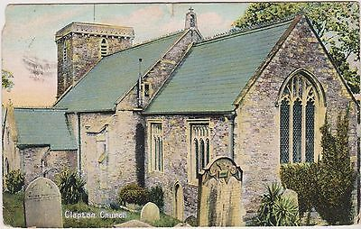 The Church - Clapton In Gordano - Bristol - North Somerset - Postcard Used 1917
