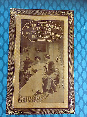 Vintage 1913 E Nash Embossed Victorian Photo Post Card Un-posted Love Poem