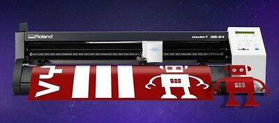 Roland GS-24 CAMM-1 Vinyl Cutter/Plotter Cutting