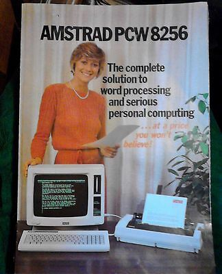advertising booklet AMSTRAD PCW 8256 vintage computing word processing 1980s