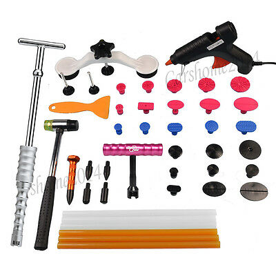 PDR Slide Hammer Puller Dent Lifter Paintless Repair Tabs Hail Removal Tools Kit