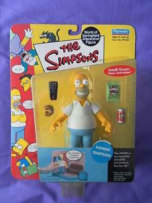 Simpsons Playmates WOS Series 1 Homer Simpson figure Excellent Condition (MOSC)