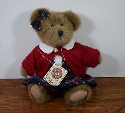 Boyds Jointed Best Dressed Collection Bear Betty B Learnin With Tags 11 Inches