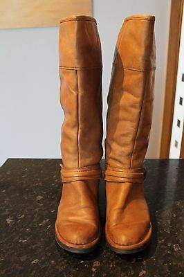 Ladies Brown Leather Knee Boots SIZE 7