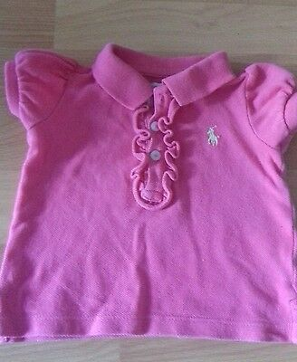 Ralph Lauren Baby girl t shirt 6 Months Read Description!