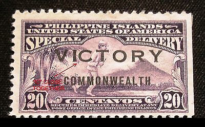 "(H057) Philippine American 1945 victory close ""ic"" Scott E10a unused NG"
