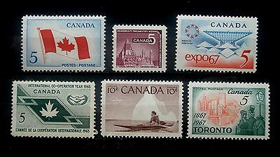 (H049) Canada selected 5c and 10c stamps MNH OG