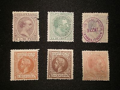 (H192) Philippines Spanish Dominion stamps MH/used OG/NG