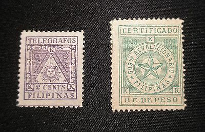(H113) Philippines Revolutionary Government stamps unused hinged NG