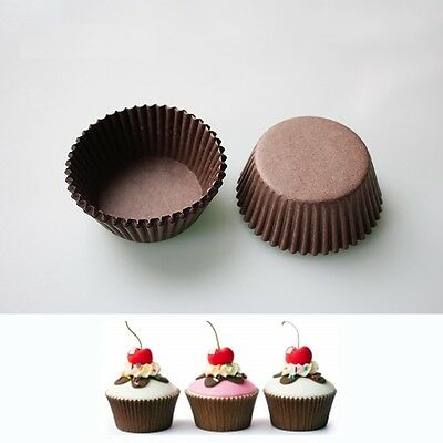 100pcs Paper Cake Cupcake Liner Case Wrapper Muffin Baking Cup Party New #6