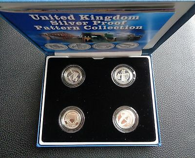 2003 £1 Silver Proof 4 Coin Set Bridges Pattern Collection Cased With Coa